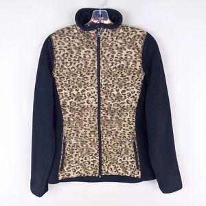 Ralph Lauren   Fleece Leopard Zip Jacket - E15
